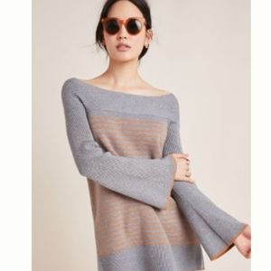 NWT Anthropologie Striped Tunic Sweater